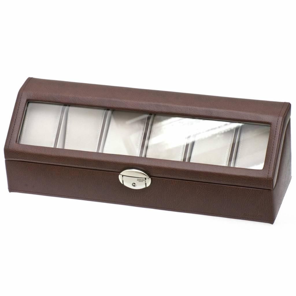 Uhrenbox für 6 Uhren Braun