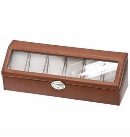 Davidts Uhrenbox für 6 Uhren Cognac