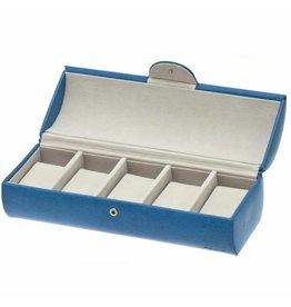 Davidts Boîte de Montre Pour 5 Montres Bleu