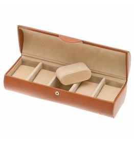 Davidts Uhrenbox für 5 Uhren Cognac