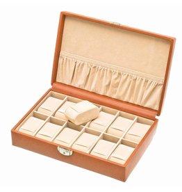 Davidts Uhrenbox für 12 Uhren Cognac