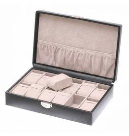Davidts Uhrenbox für 12 Uhren Schwarz
