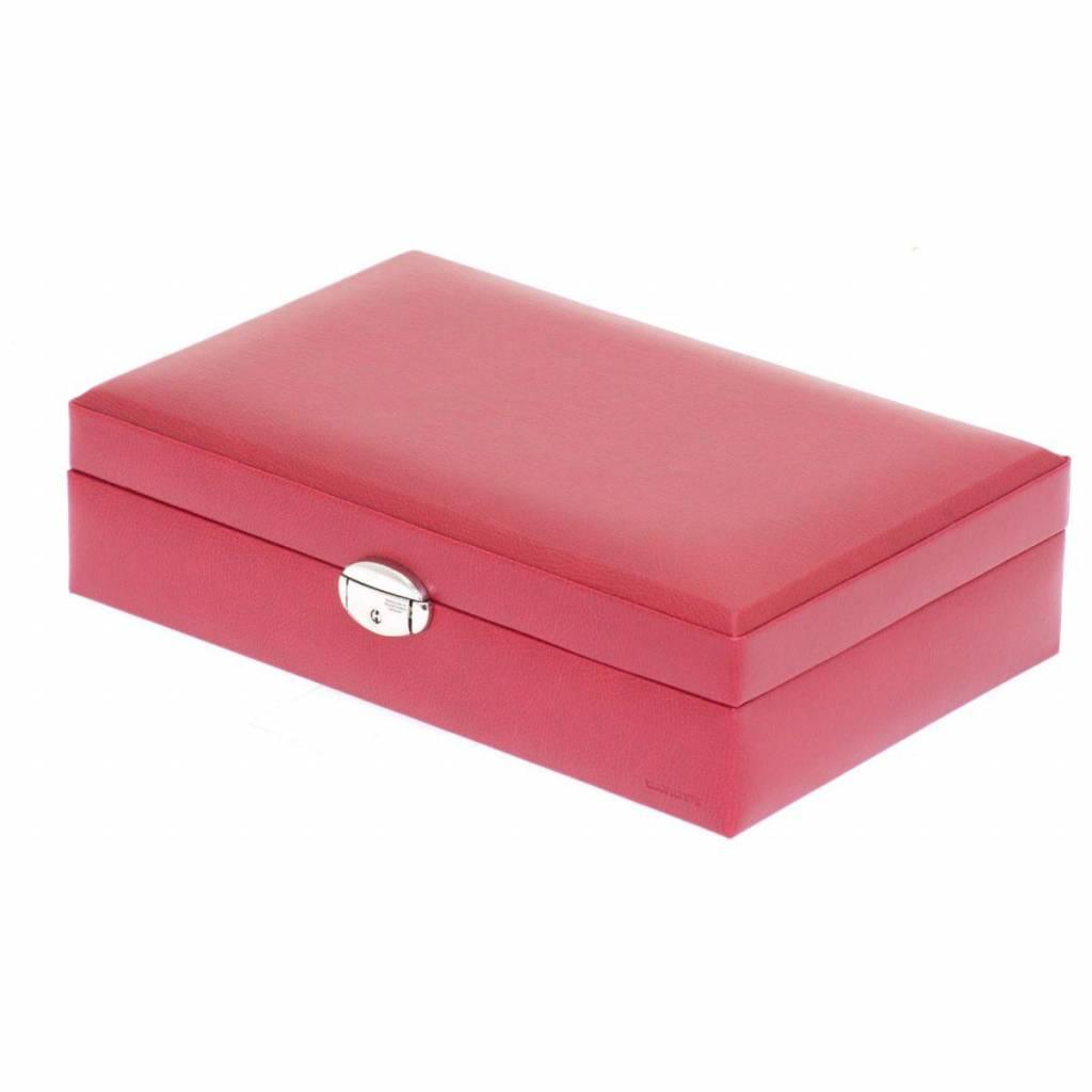 Uhrenbox für 12 Uhren Rot