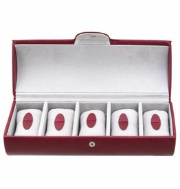 Davidts Boîte de Montre Pour 5 Montres Rouge
