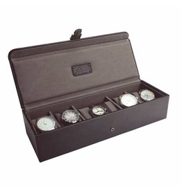 Jacob Jones Uhrenbox für 5 zu 6 Uhren Braun & Khaki