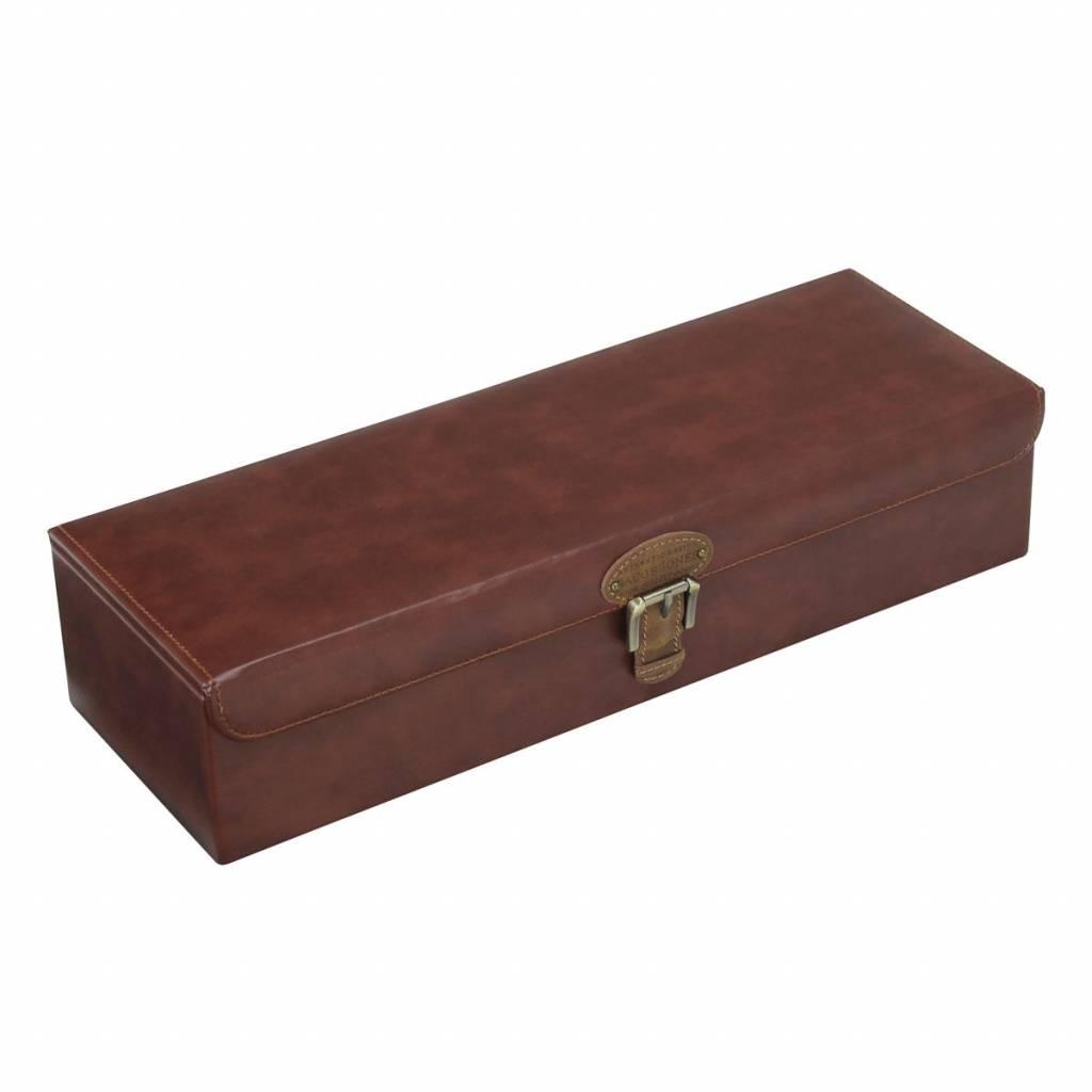 Uhrenbox für 5 zu 6 Uhren Cognac