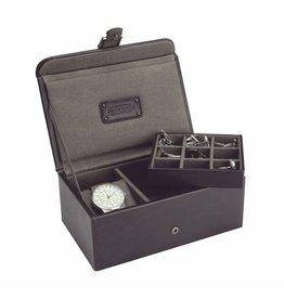 Jacob Jones Horloge-manchetknopendoos bruin
