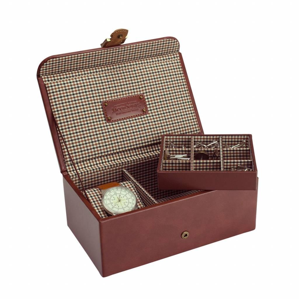 Uhren- & Manschettenknöpfe Box Cognac