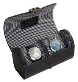 Jacob Jones Uhrenbeutel Grau für 2 Uhren