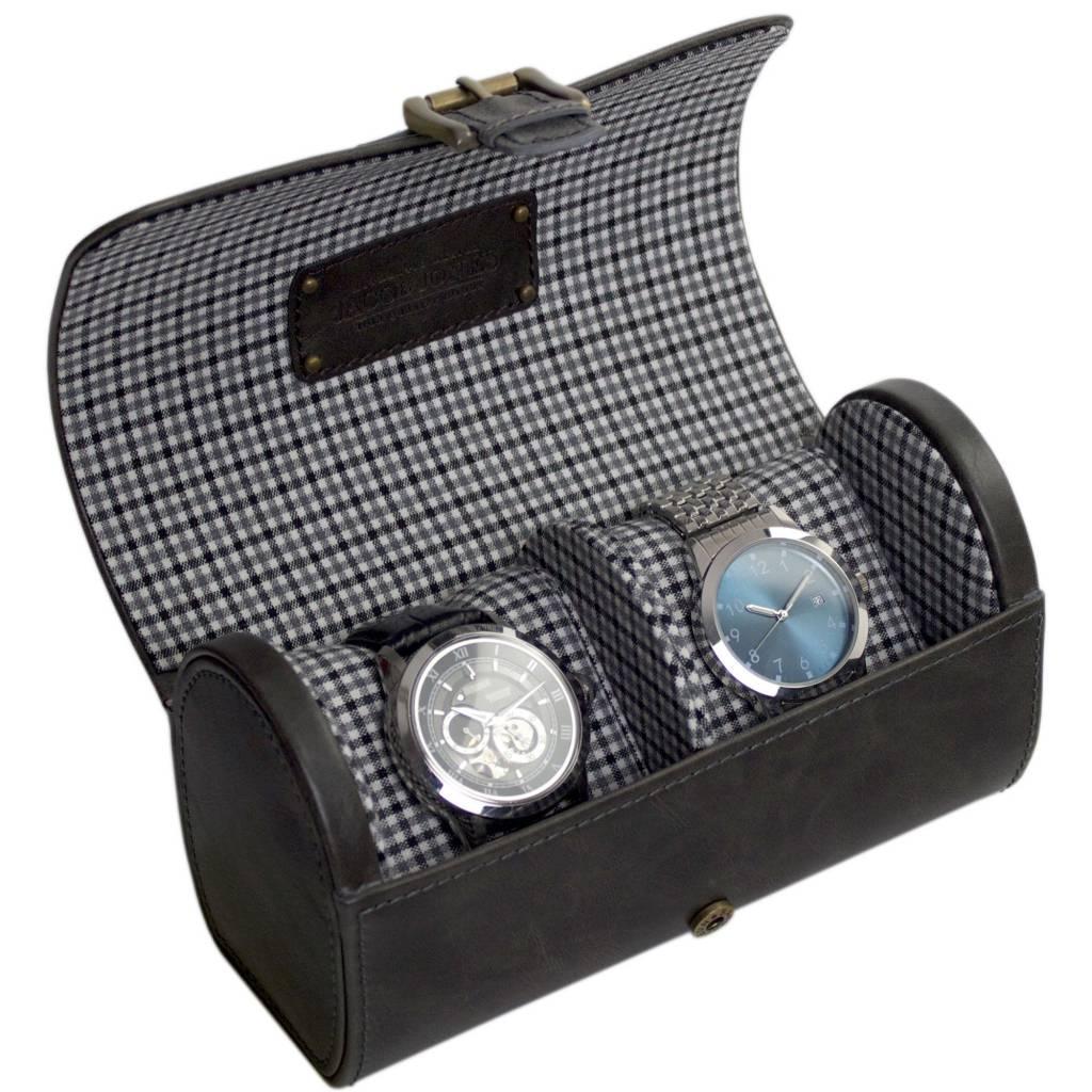 Uhrenbeutel Grau für 2 Uhren