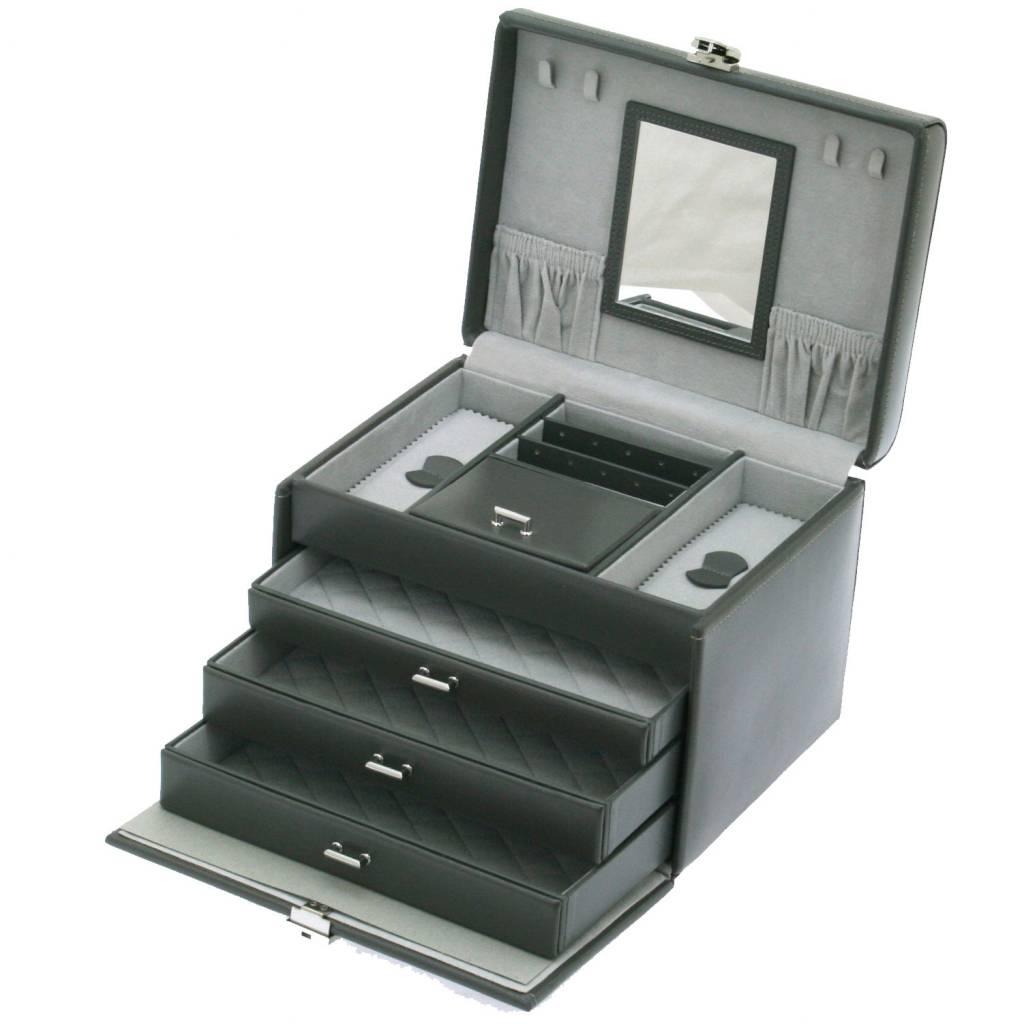 Juwelendoos Luxe Donkergrijs