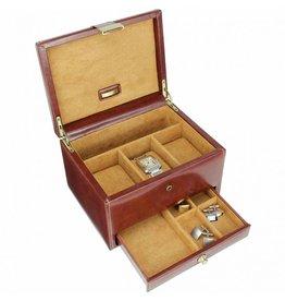 Dulwich Design Uhrenbox Leder für 3 Uhren Braun
