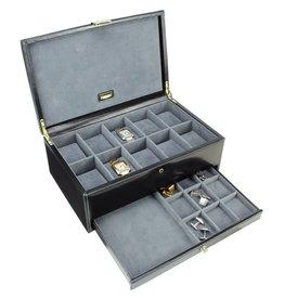 Dulwich Design Uhrenbox Luxuslder für 10 Uhren