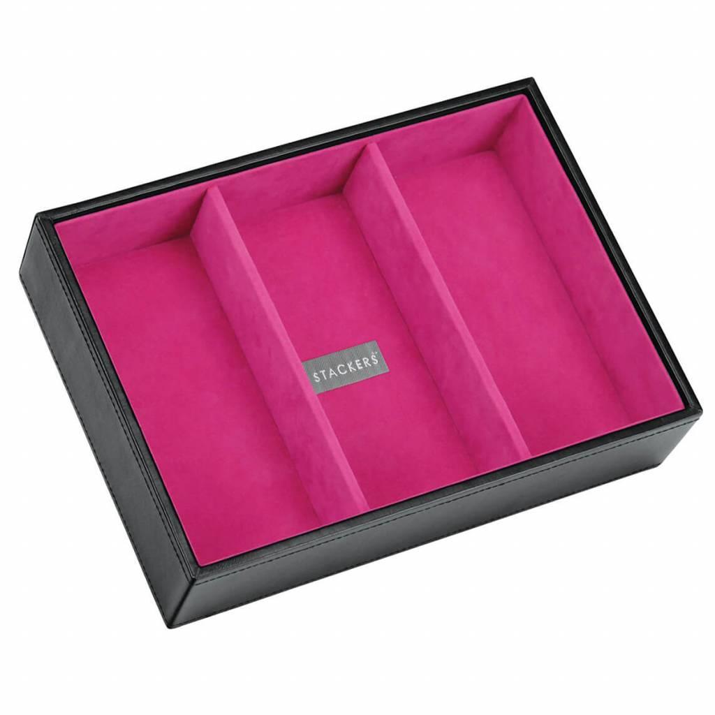 Sieradendoos Black Classic 3-vaks voor horloges/accessoires