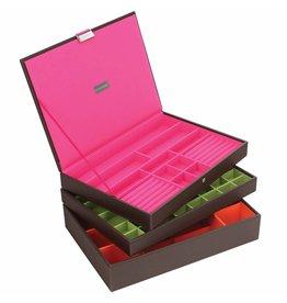 Stackers Boîte à Bijoux Chocolate Brown Supersize Ensemble