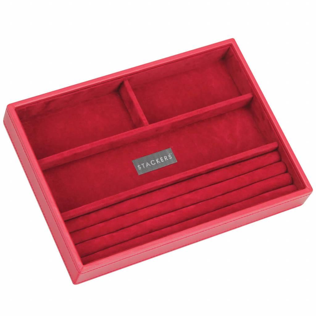 Sieradendoos Red Classic 4-vaks voor ringen en armbanden