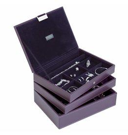 Stackers Boîte à Bijoux Purple Classic Ensemble