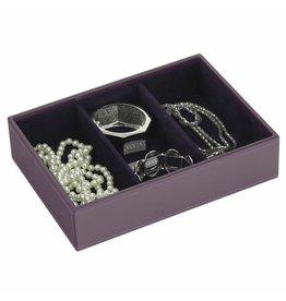 Stackers Boîte à Bijoux Purple Classic 3 sect.