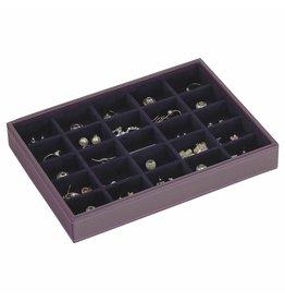 Stackers Boîte à Bijoux Purple Classic 25 sect.