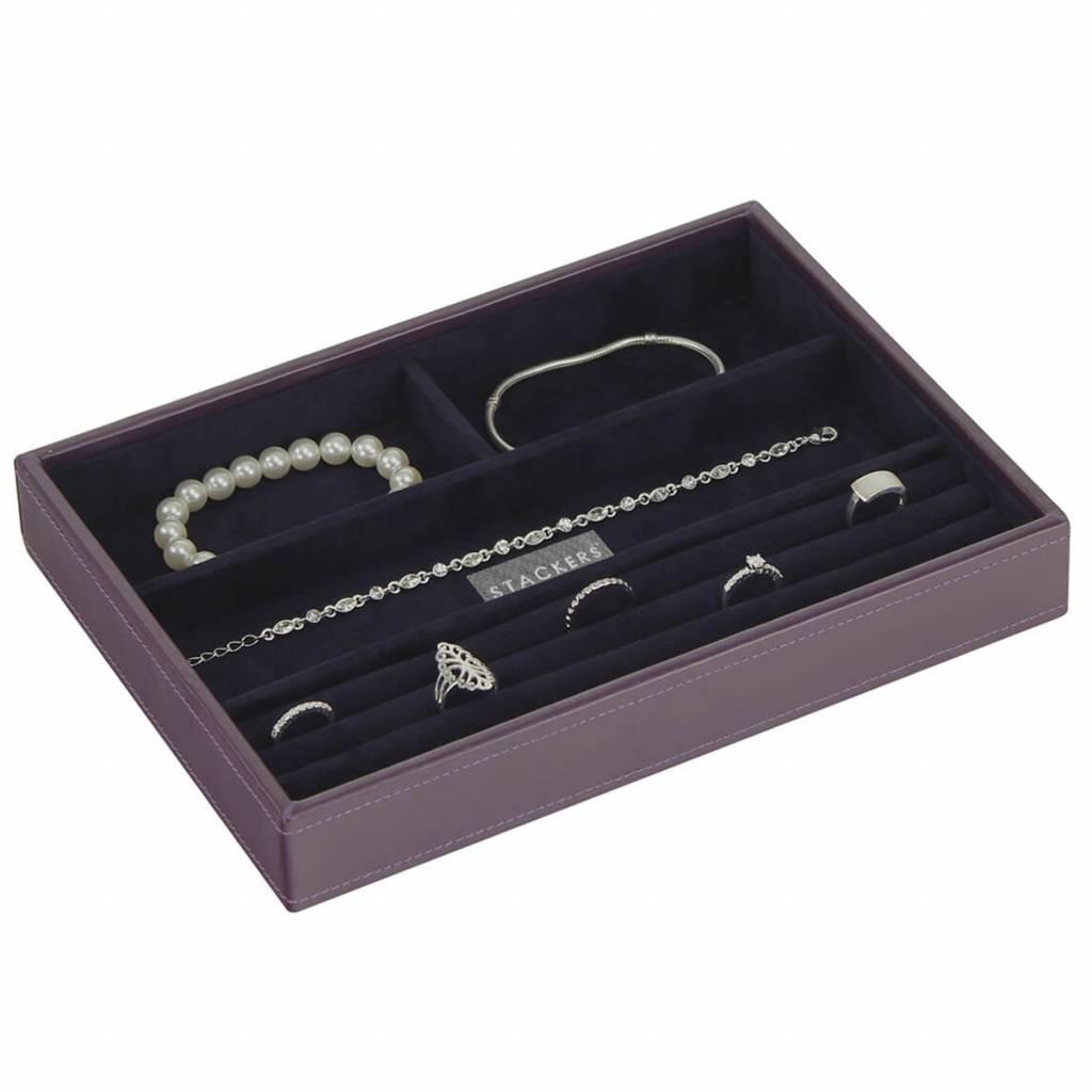 Sieradendoos Purple Classic 4-vaks voor ringen en armbanden