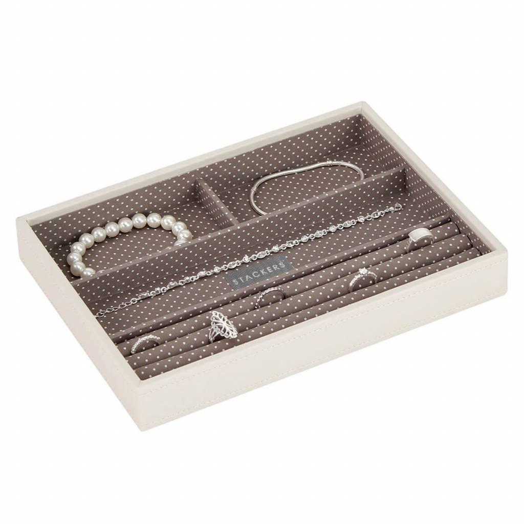Sieradendoos Vanilla Classic 4-vaks voor ringen en armbanden