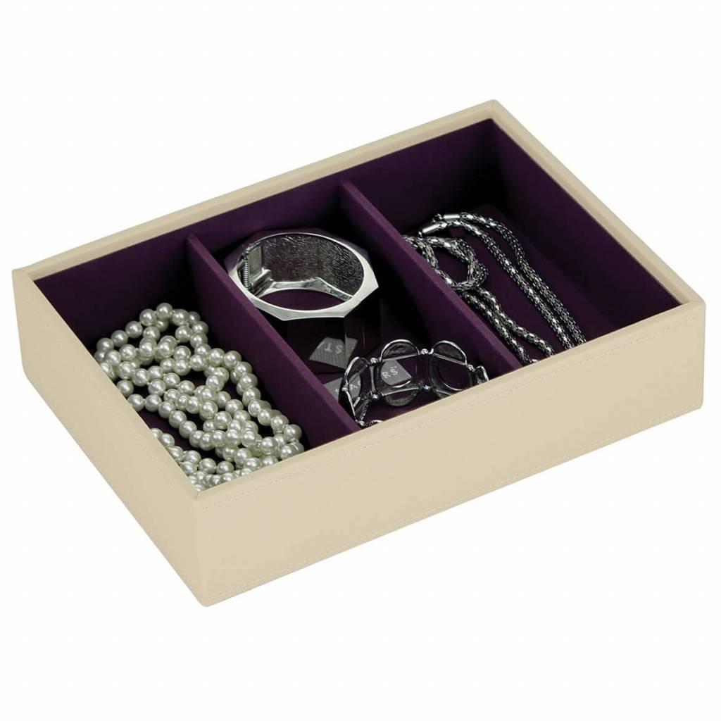 Sieradendoos Cream Classic 3-vaks voor horloges/accessoires