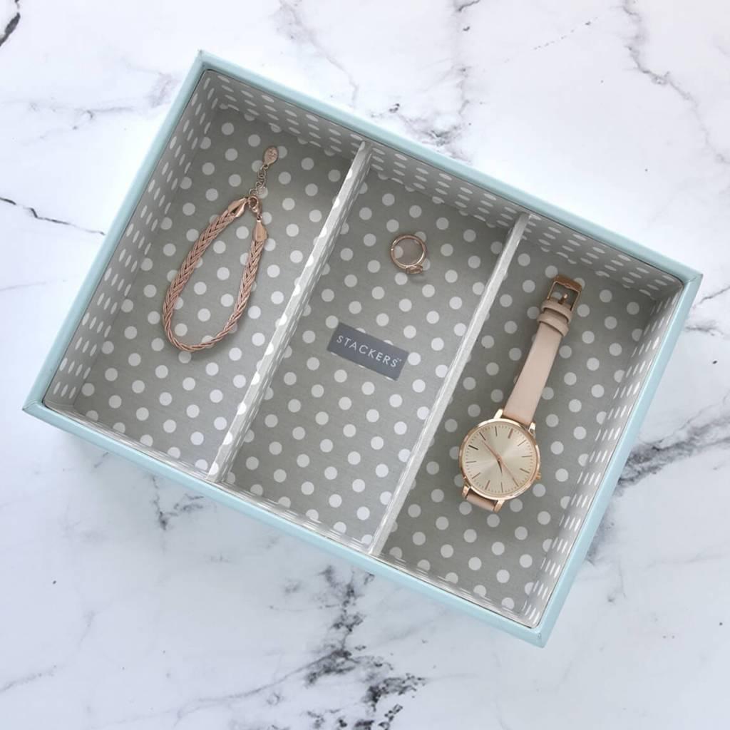 Sieradendoos Duck Egg Classic 3-vaks voor horloges/accessoires