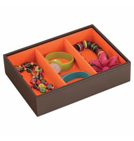 Stackers Sieradendoos Chocolate Brown Classic 3-vaks