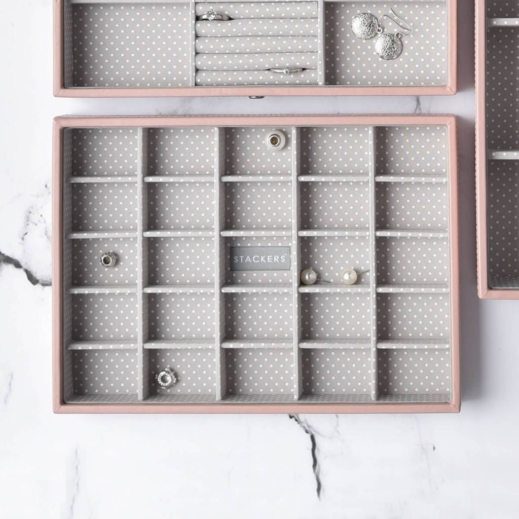 Sieradendoos Soft Pink Classic 25-vaks voor kleine accessoires