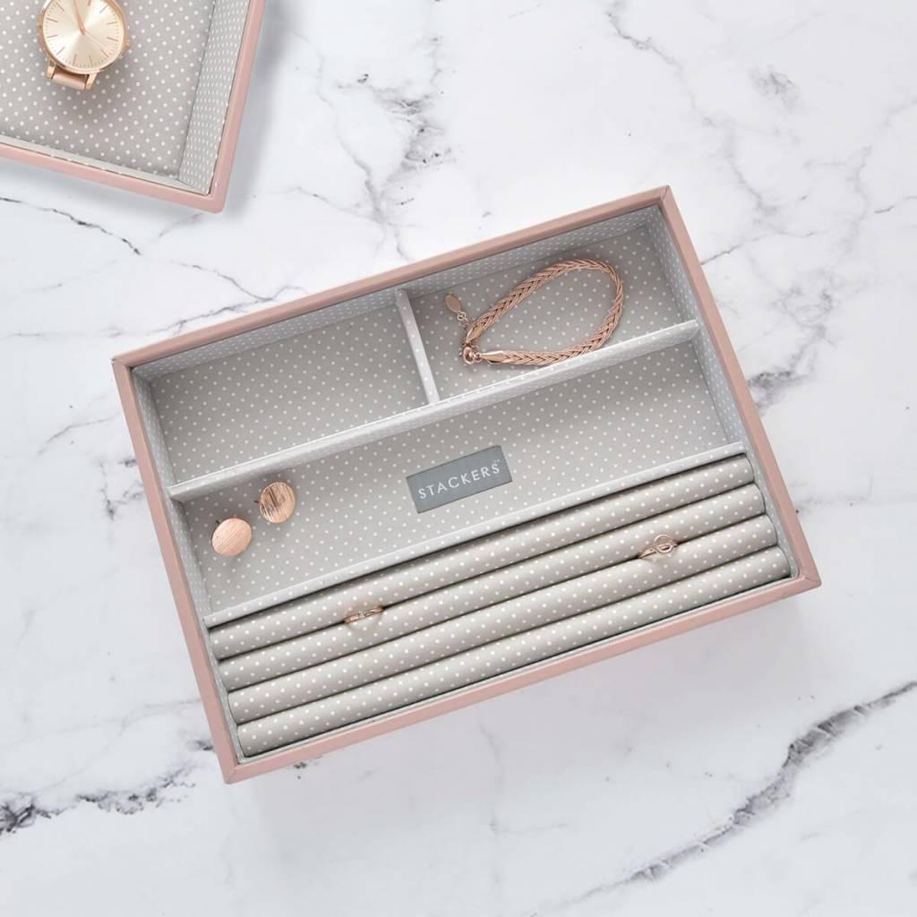 Boîte à Bijoux Soft Pink Classic 4 sect. für Ringe und Armbänder