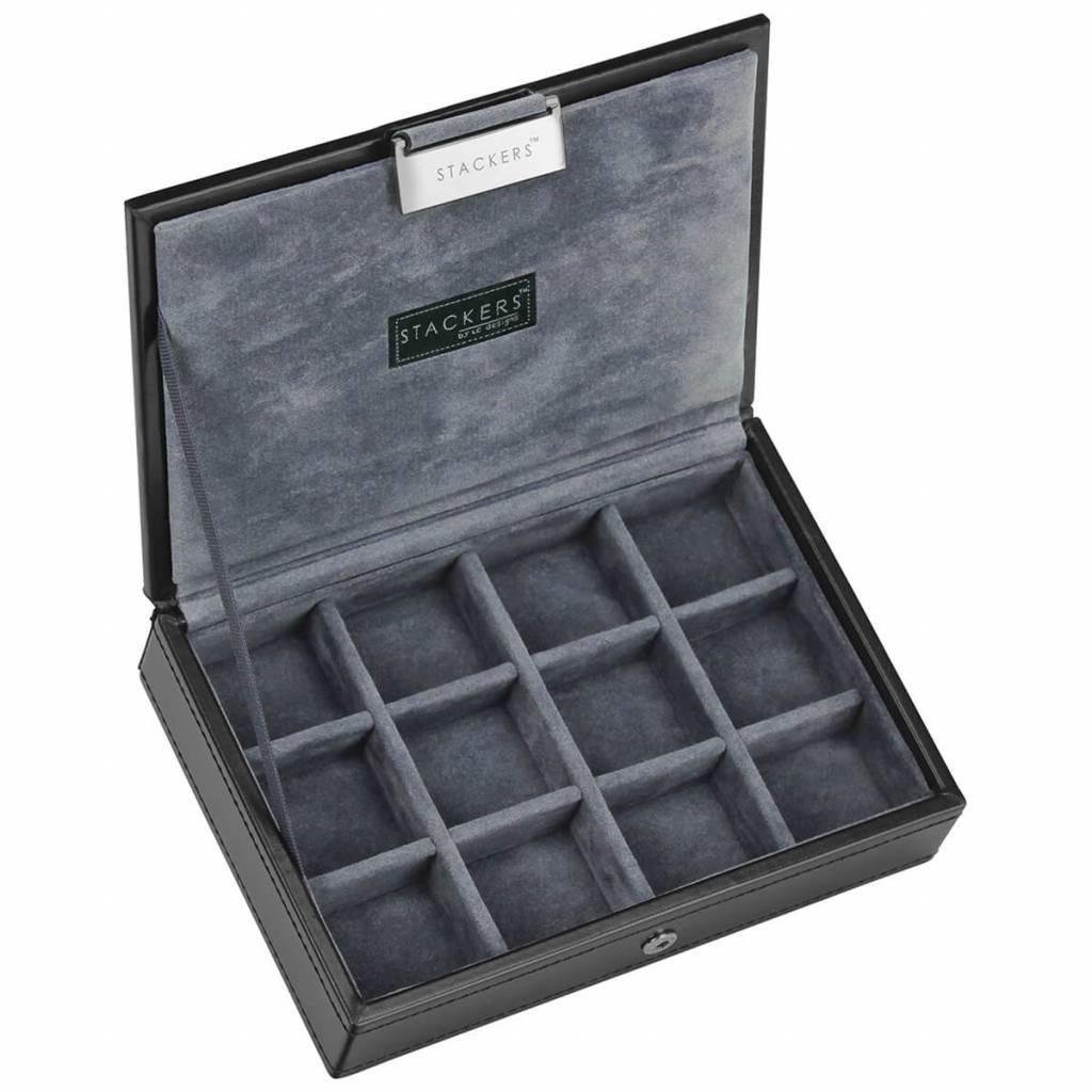 Black Mini manchetknopen doos