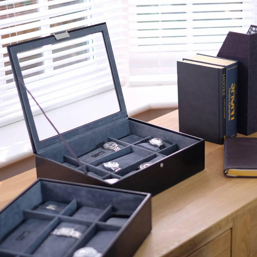 Black XL Uhrenbox 30 Stck Set