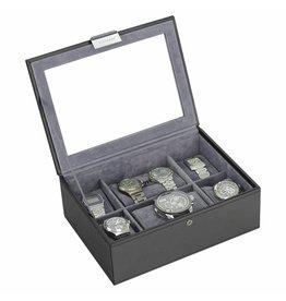 Stackers Black Large Uhrenbox 8 Stck Deckel