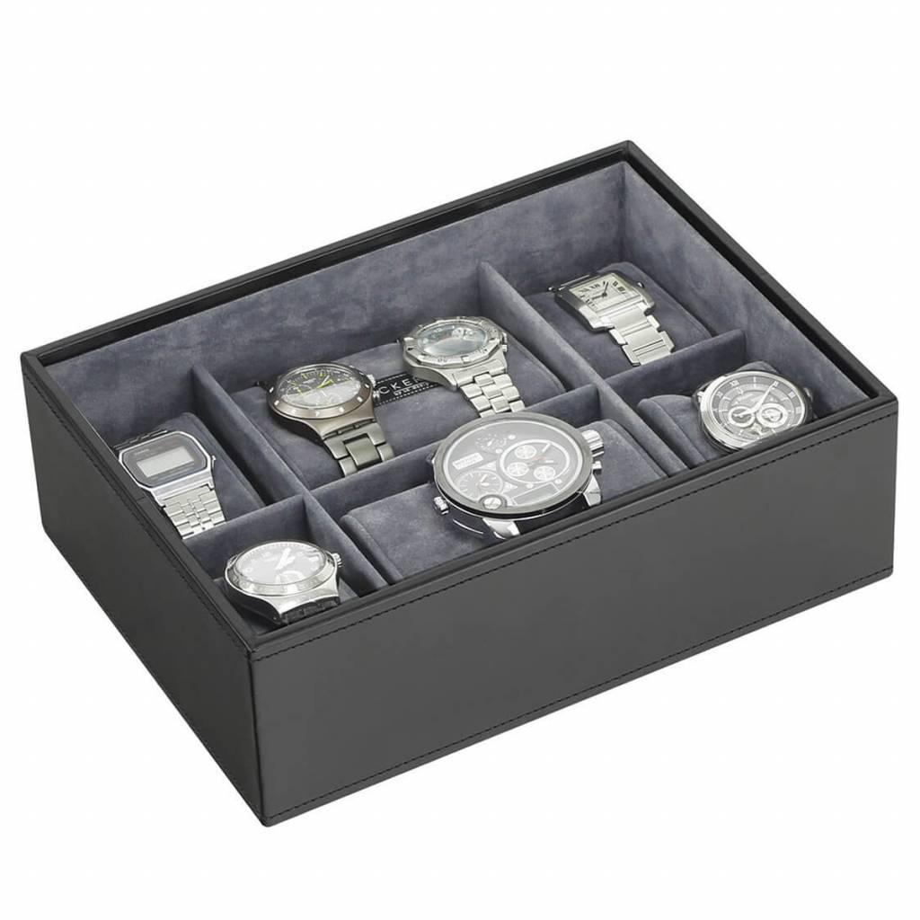 Black Large Uhrenbox 8 Stck Öffnen