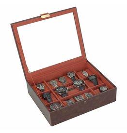 Stackers Vintage Brown XL Uhrenbox 15 Stck Deckel