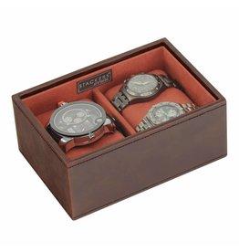 Stackers Vintage Brown Mini horlogedoos 2 pcs open