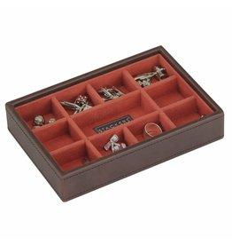 Stackers Vintage Brown Mini Manschettenknöpfe Box Öffnen