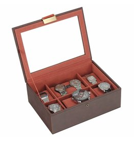 Stackers Vintage Brown Large Couvercle Boîte de Montre 8 pcs