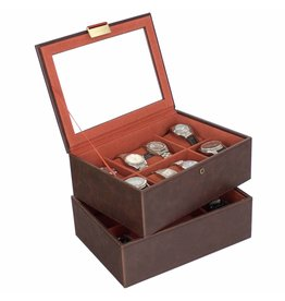 Stackers Vintage Brown Large Boîte de Montre 16 pcs Ensemble