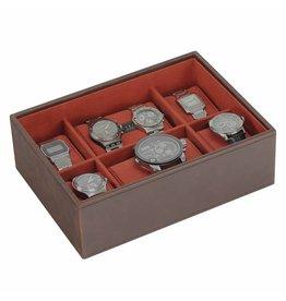 Stackers Vintage Brown Large Uhrenbox 8 Stck Öffnen
