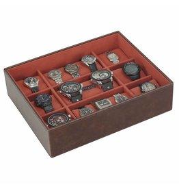 Stackers Vintage Brown XL Uhrenbox 15 Stck Öffnen