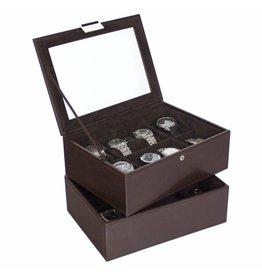 Stackers Chocolate Brown Large Ensemble Boîte de Montre 16 pcs