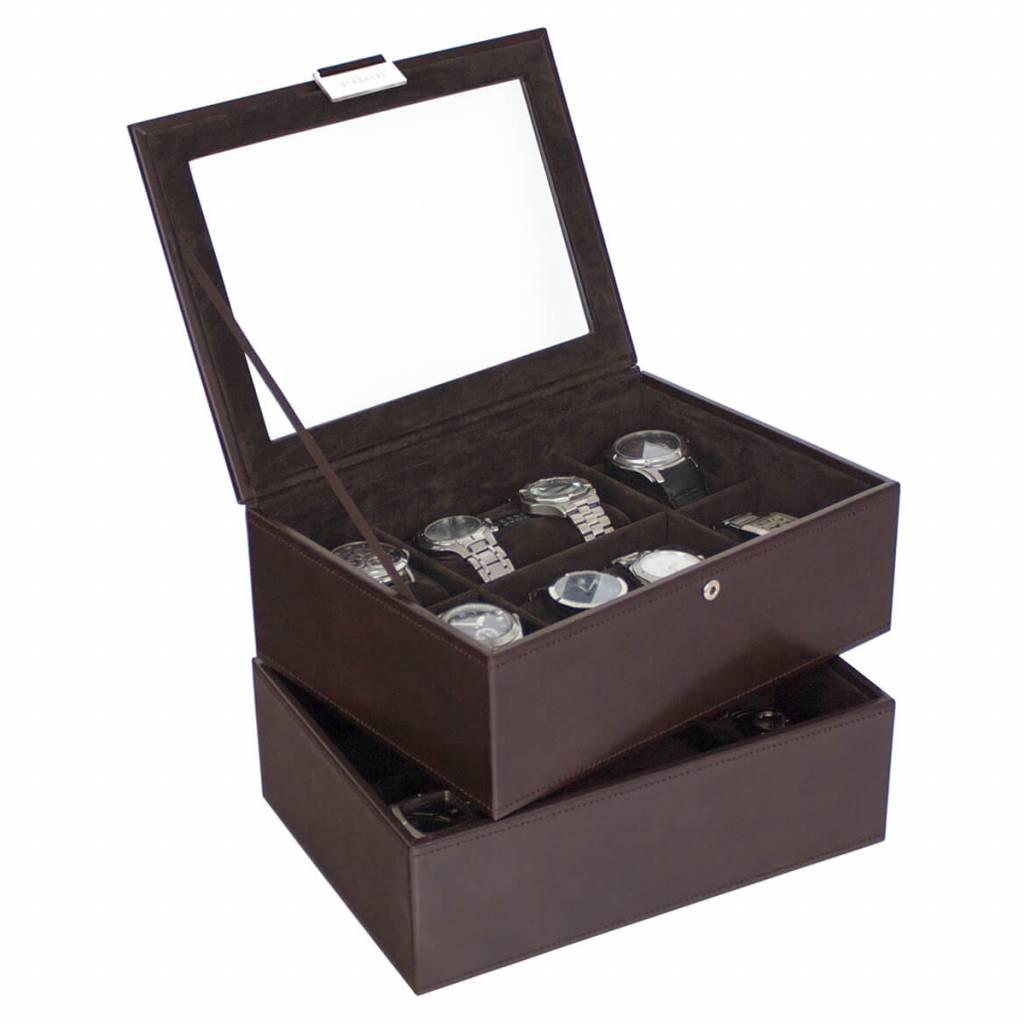 Chocolate Brown Large set horlogedoos 16 pcs
