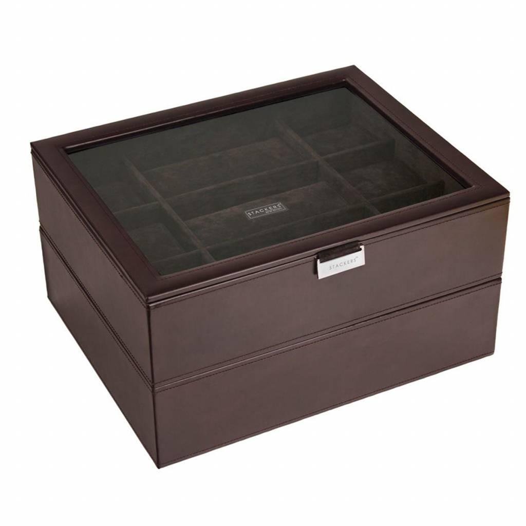 Chocolate Brown XL Set Uhrenbox 30 Stck