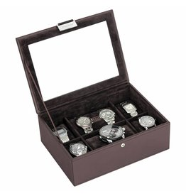 Stackers Chocolate Brown Large Boîte de Montre 8 pcs Couvercle