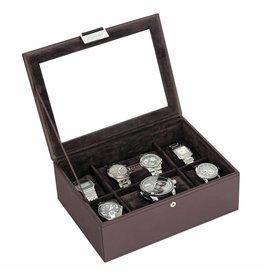 Stackers Chocolate Brown Large Uhrenbox 8 Stck Deckel