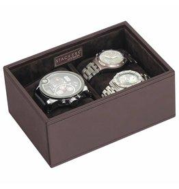 Stackers Chocolate Brown Mini Boîte de Montre 2 pcs Ouvert