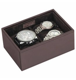 Stackers Chocolate Brown Mini Uhrenbox 2 Stck Öffnen