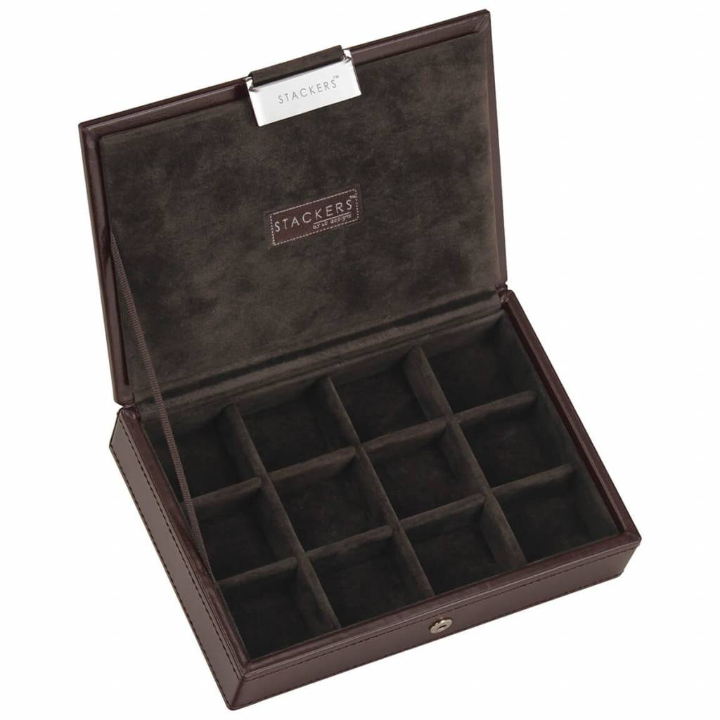 Chocolate Brown Mini manchetknopen doos