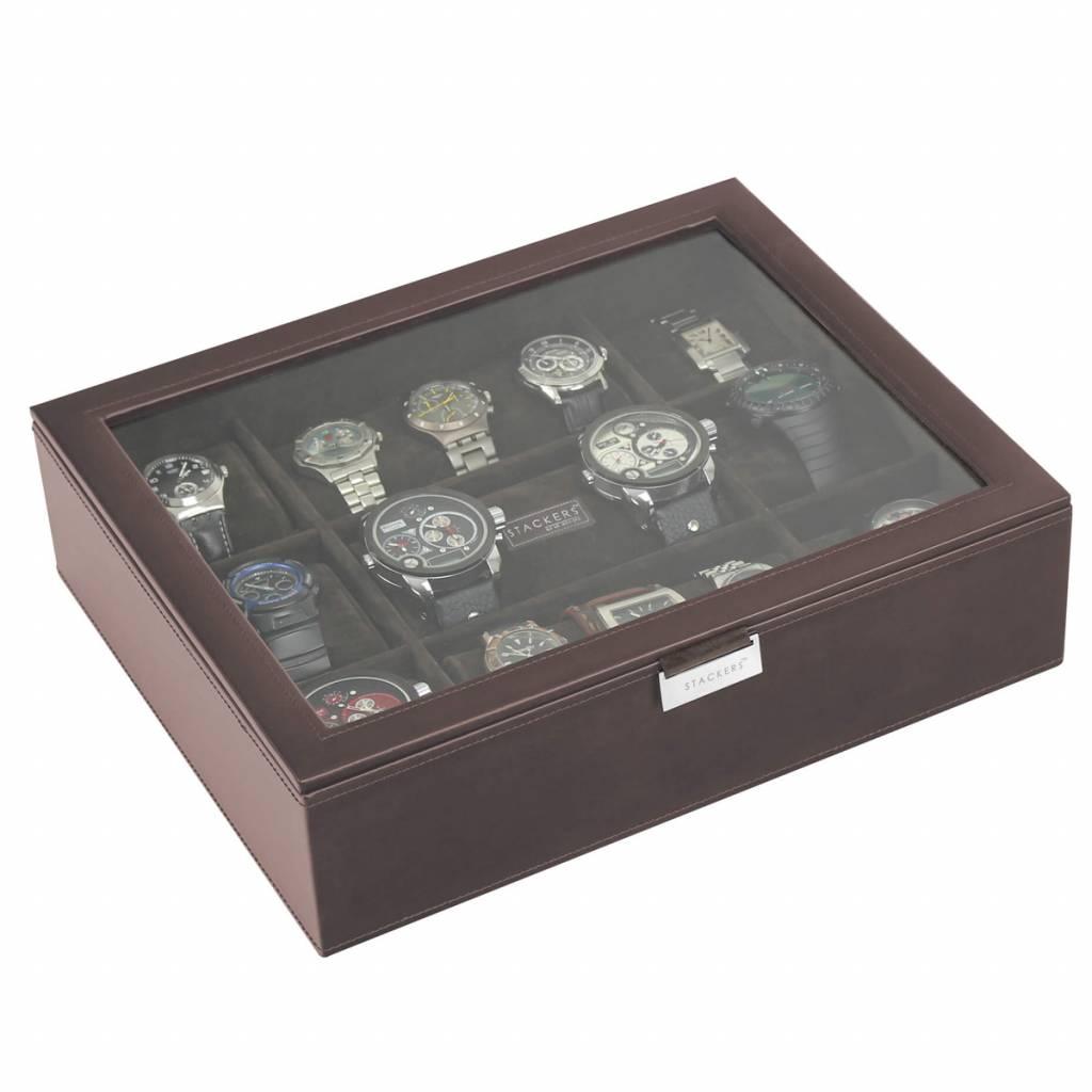 Chocolate Brown XL top horlogedoos 15 pcs